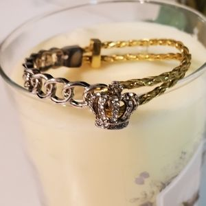 🆕️JUICY COUTURE CHUNKY LINK &BRAID CROWN BRACELET